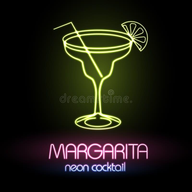 Signe au néon cocktail illustration libre de droits