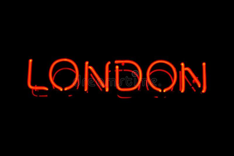 Signe au néon de Londres photographie stock