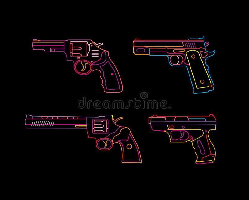 Signe au néon de pistolet illustration libre de droits