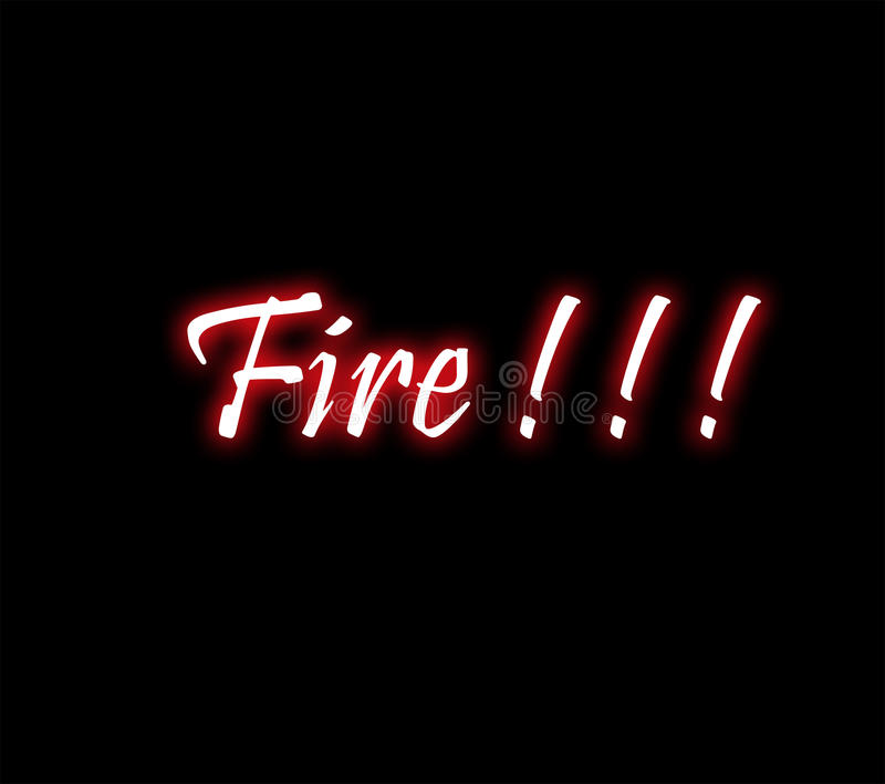 Signe au néon du feu photos stock