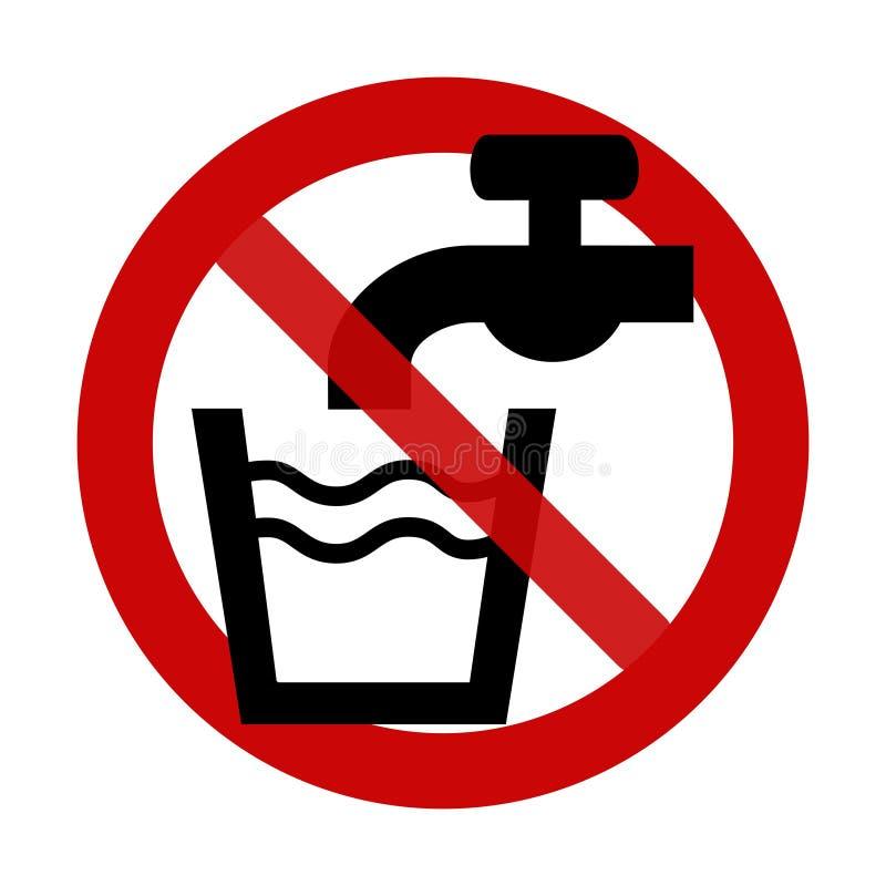 Signe : Aucune eau potable illustration stock