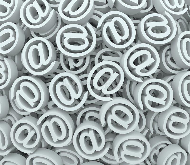 @ signe aux messages d'émission-réception de fond de symbole d'email illustration de vecteur