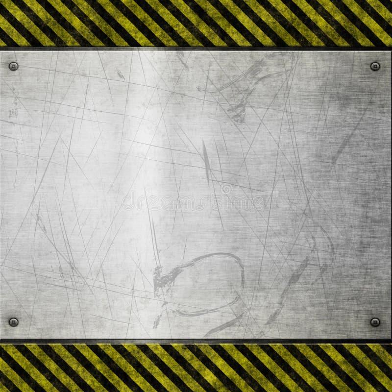 Signe balayé vieux par risque en métal illustration libre de droits