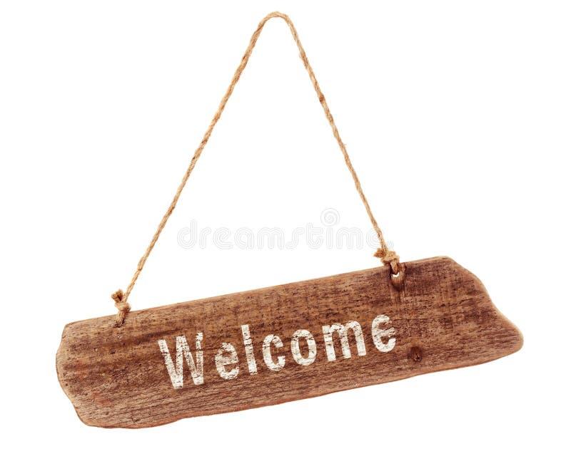 Signe bienvenu photo stock