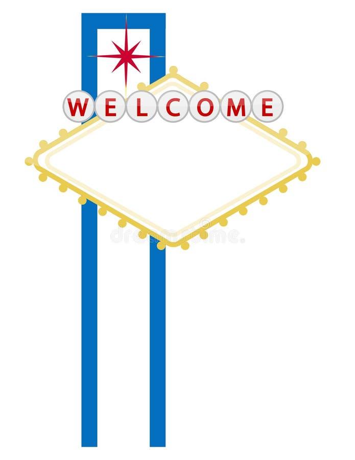 Signe bienvenu de casino ou de ville illustration libre de droits