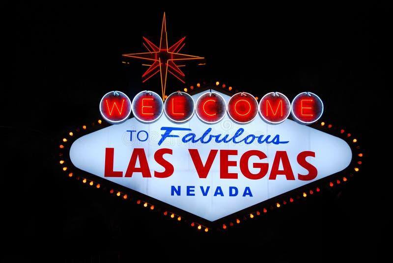 Signe bienvenu de Las Vegas image libre de droits