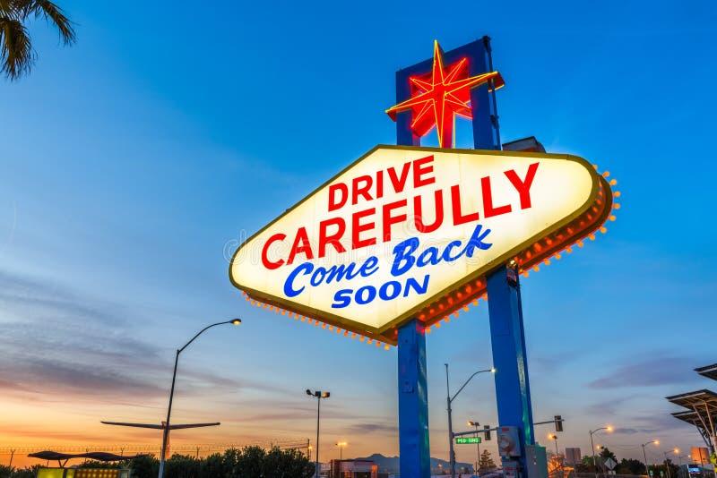 signe bienvenu de Las Vegas photo libre de droits