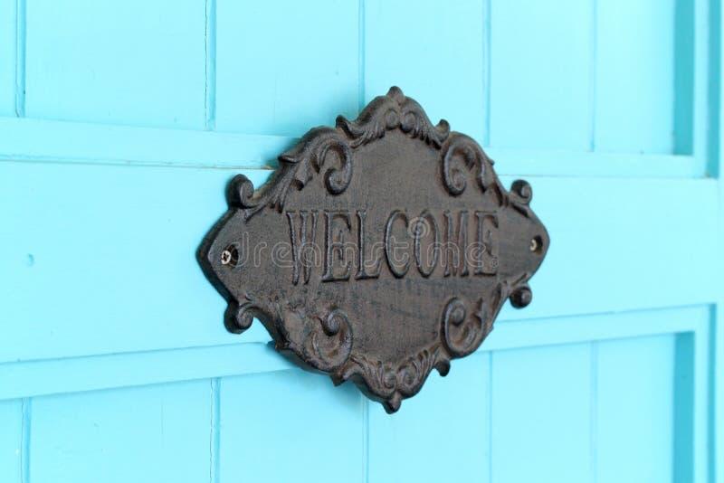 Signe bienvenu de vintage photographie stock