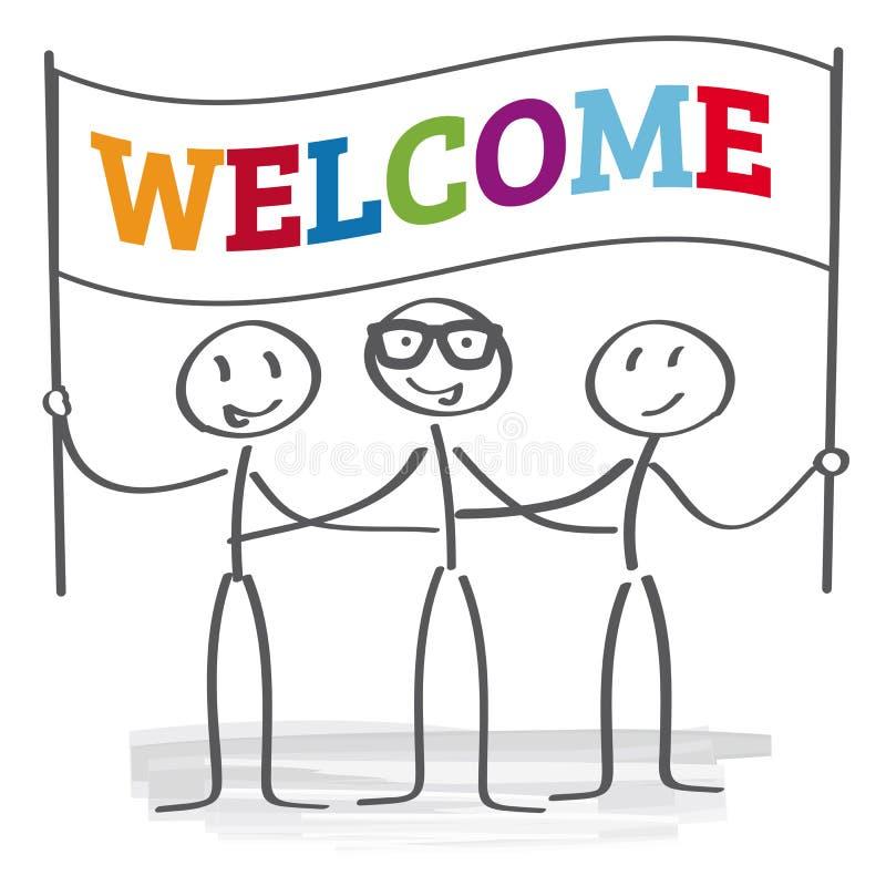 Signe bienvenu - illustration illustration stock