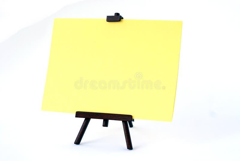 Signe blanc image libre de droits