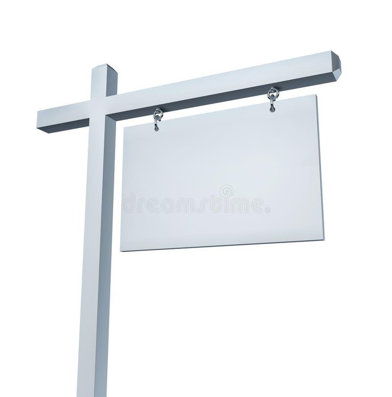 Signe blanc blanc d'immeubles illustration de vecteur