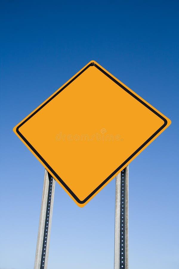 Signe blanc d'attention image libre de droits
