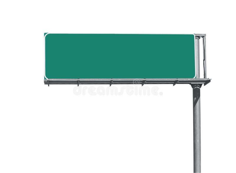 Signe blanc d'autoroute photo libre de droits