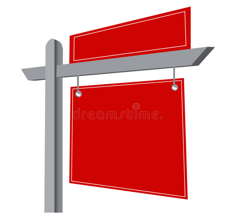 Signe blanc d'immeubles illustration stock