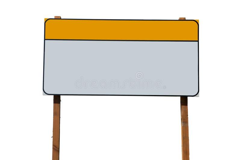 Signe blanc de construction photo libre de droits