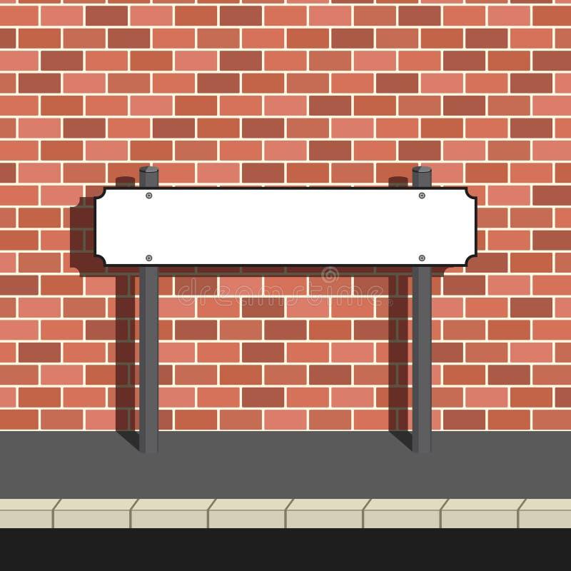 Signe blanc de nom de rue illustration libre de droits