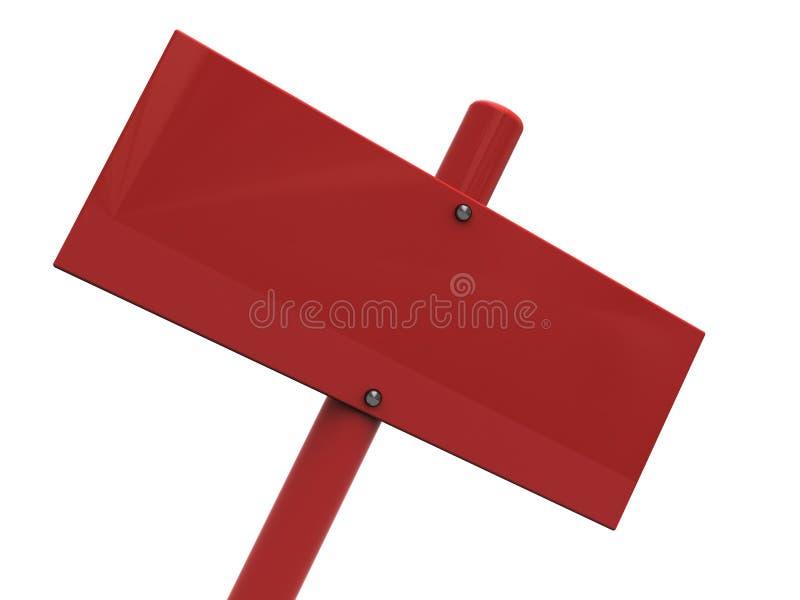 signe blanc de rouge de plan rapproché illustration libre de droits