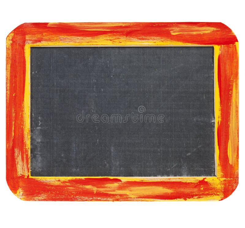Signe blanc de tableau noir photographie stock