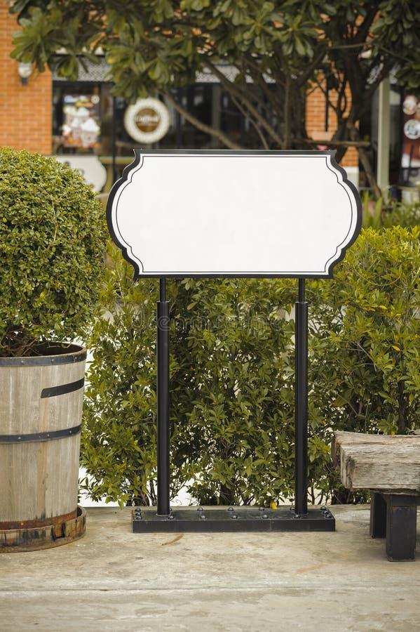 Signe blanc Standy photos libres de droits