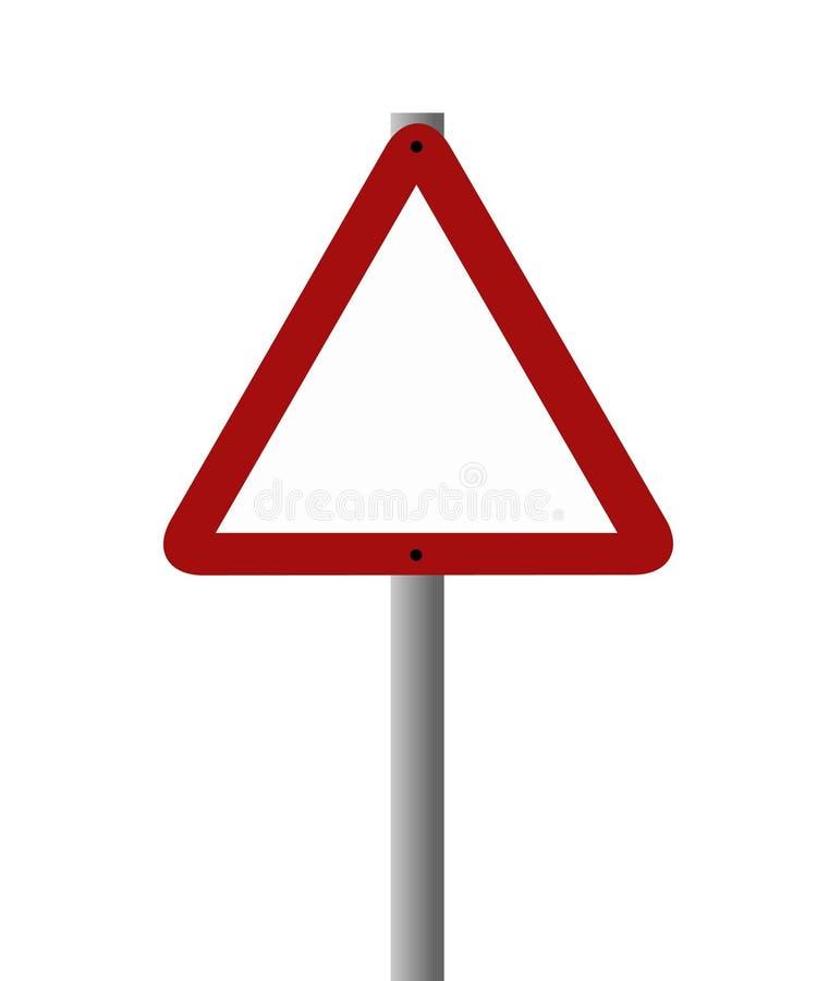 Signe blanc - triangulaire illustration libre de droits