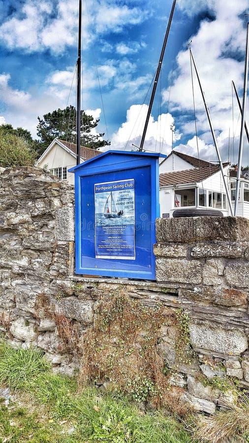 Signe bleu cornouaillais image libre de droits