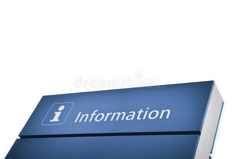 Signe bleu de l'information photographie stock libre de droits