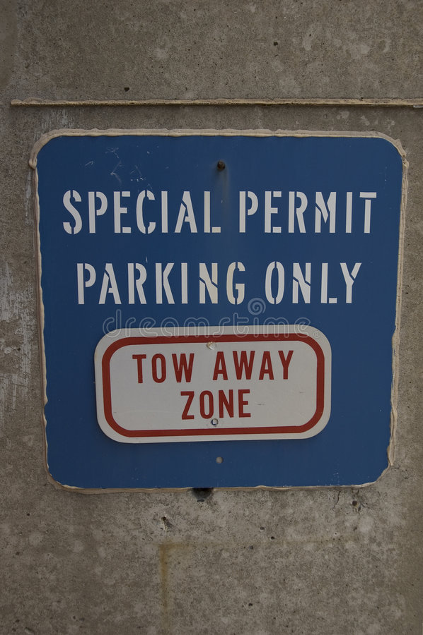 Signe bleu de stationnement images libres de droits
