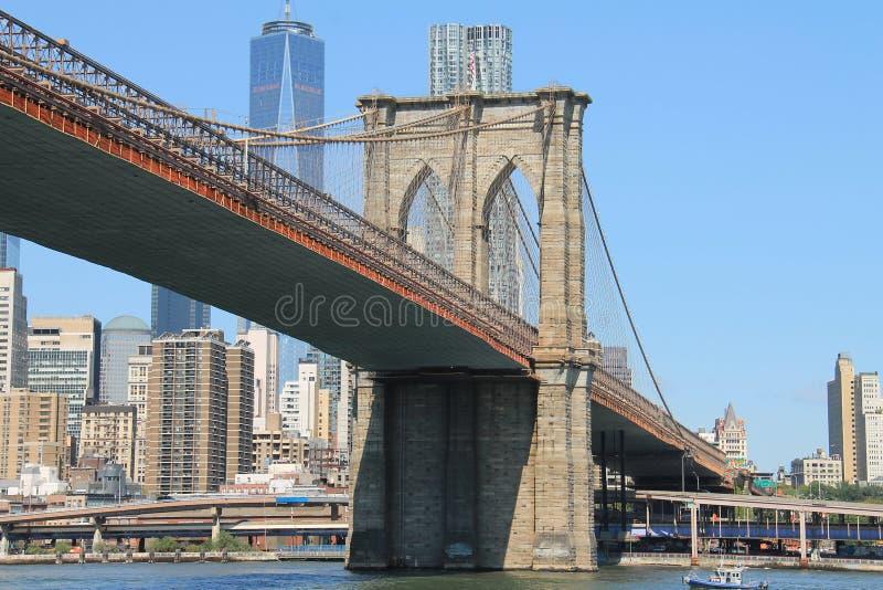 Signe, briques, près de la passerelle de Brooklyn photos stock