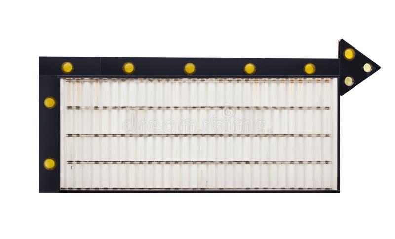 Signe changeable blanc de flèche images stock