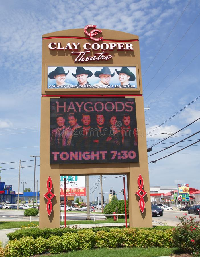 Signe chez Clay Cooper Theater, Branson Missouri images stock