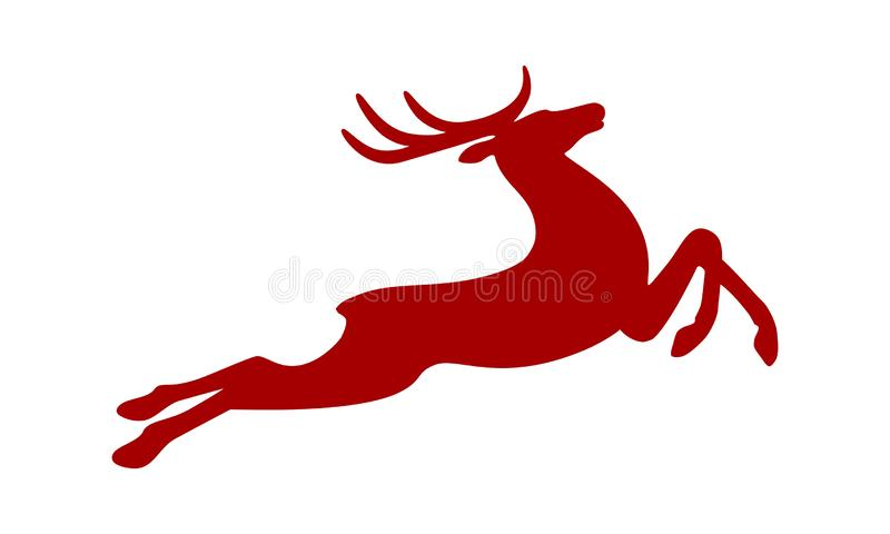 Signe courant les cerfs communs rouges illustration stock