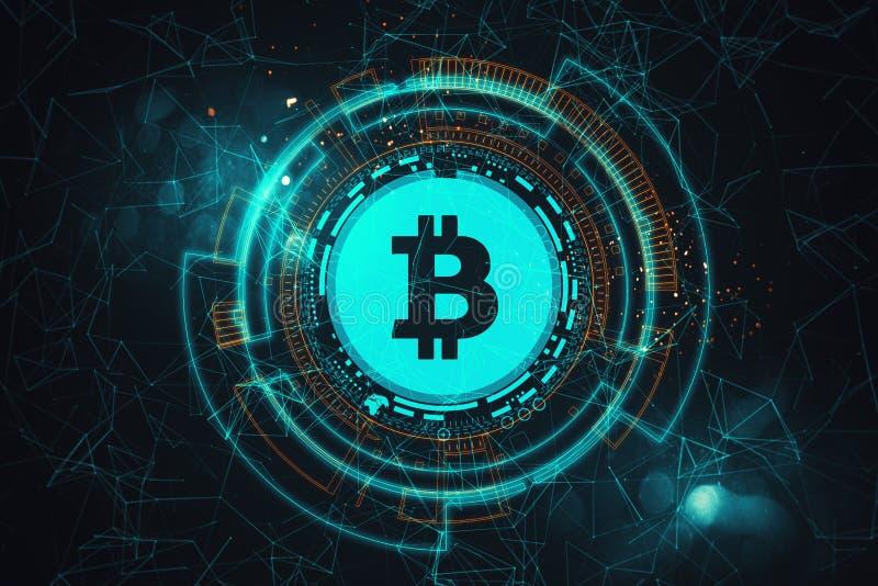 Signe créatif de bitcoin illustration libre de droits