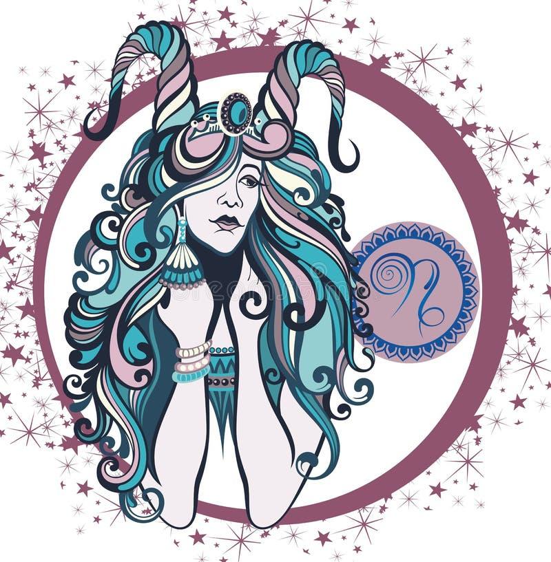 Signe décoratif Capricornus de zodiaque illustration libre de droits