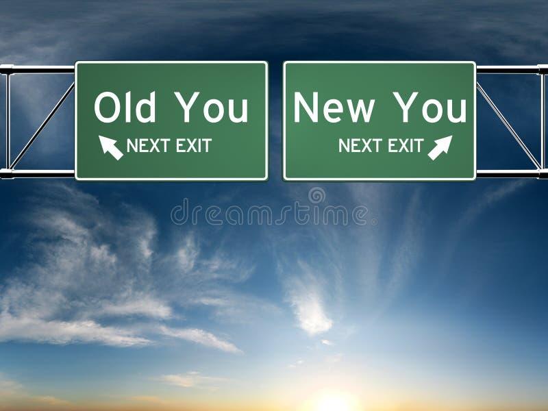 Nouveau vous, vieux vous illustration libre de droits