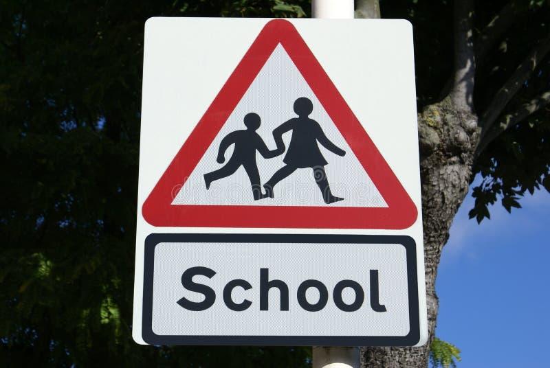 Signe d'école photos stock