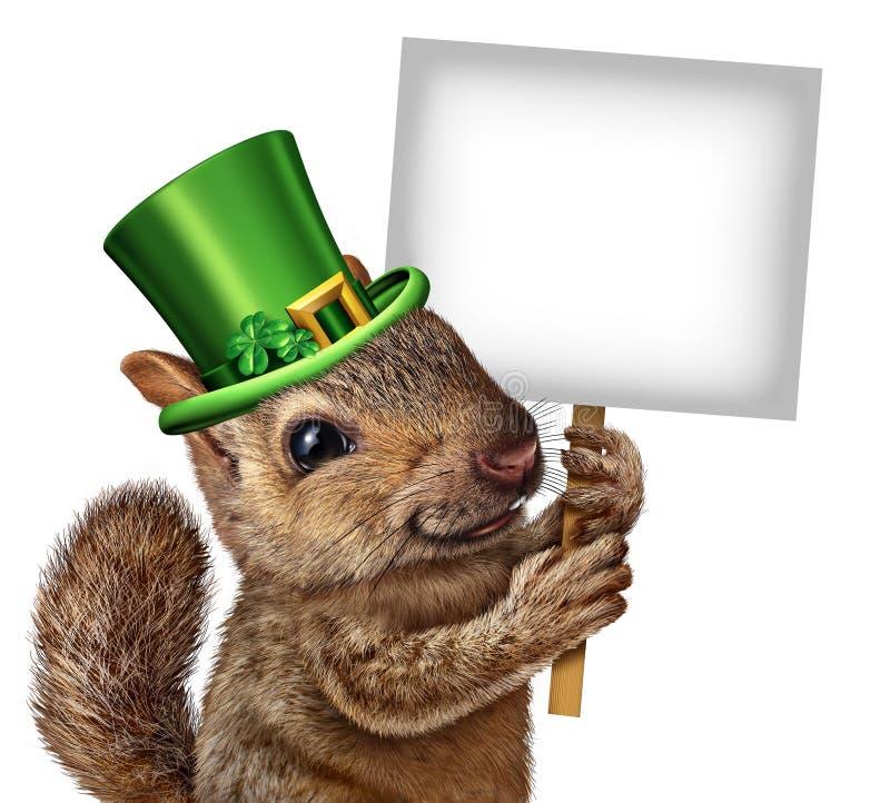 Signe d'écureuil de ressort illustration de vecteur