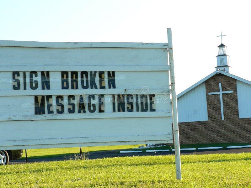 Signe d'église photographie stock libre de droits