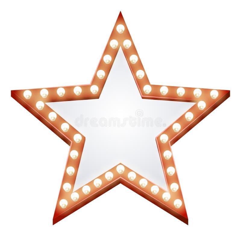 Signe d'étoile illustration stock