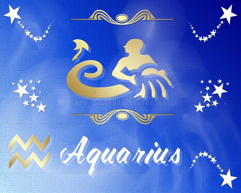 Signe d'étoile de zodiaque de Verseau illustration libre de droits