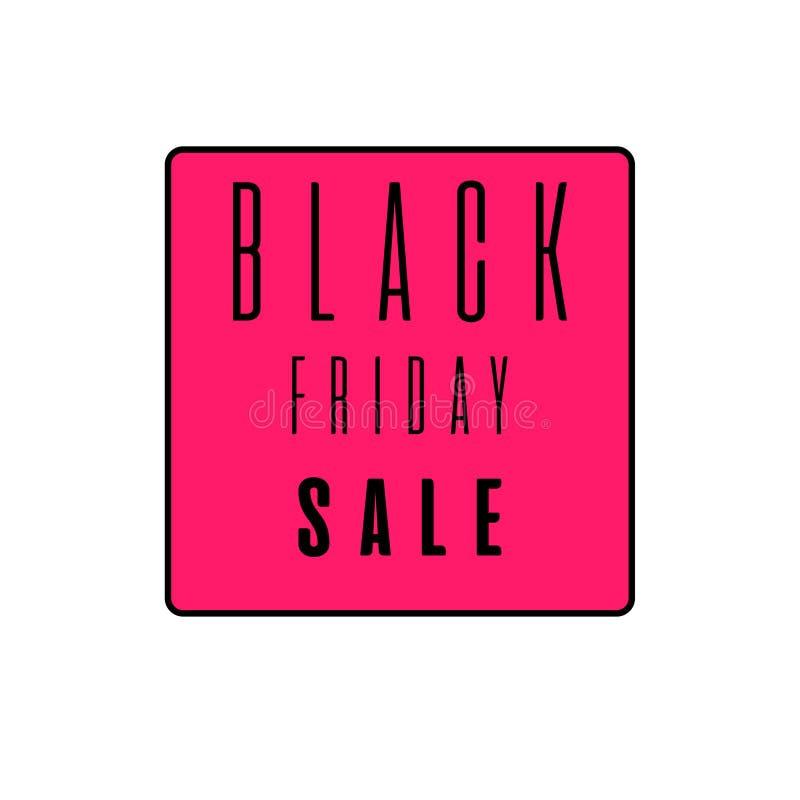 Signe d'événement de vente de Black Friday Texte noir sur le fond de purplee Graphisme de Web illustration libre de droits