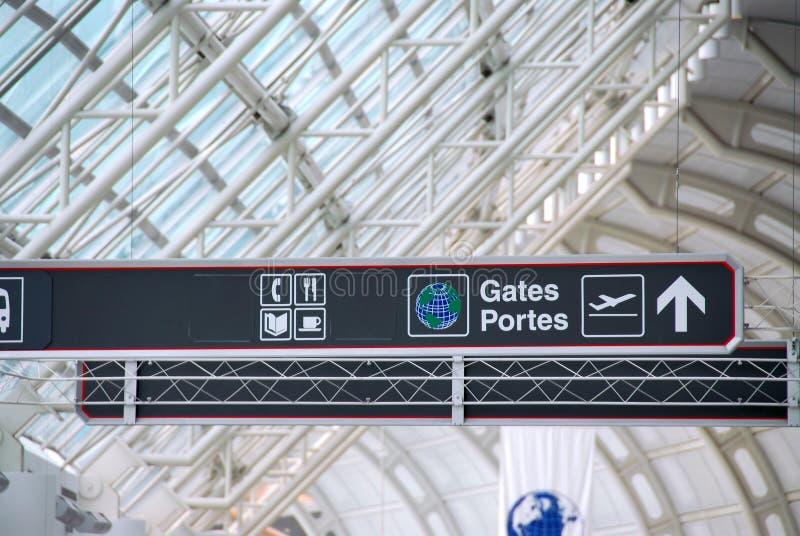 Signe d'aéroport photographie stock