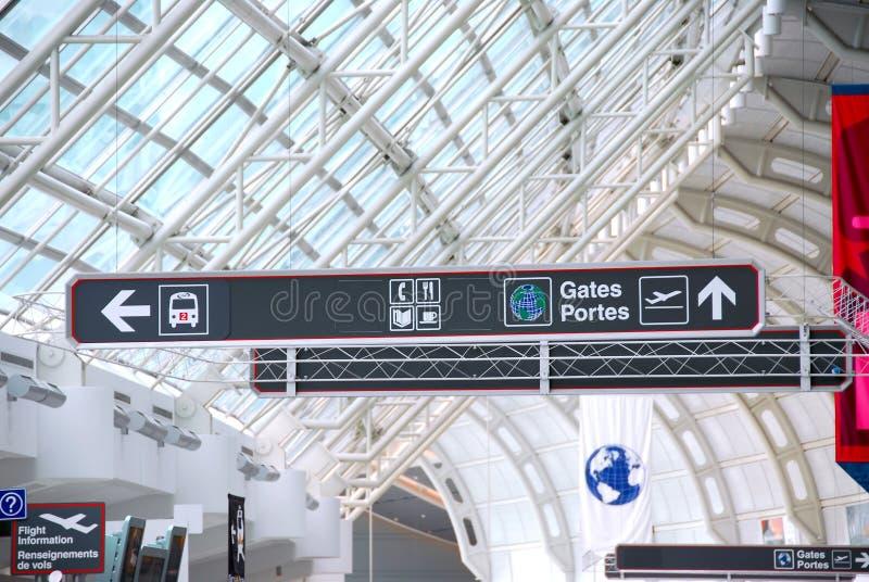 Signe d'aéroport image libre de droits
