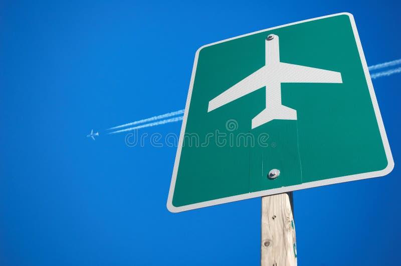 Signe d'aéroport images libres de droits