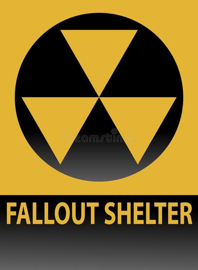 Signe d'abri contre les retombées radioactives illustration libre de droits