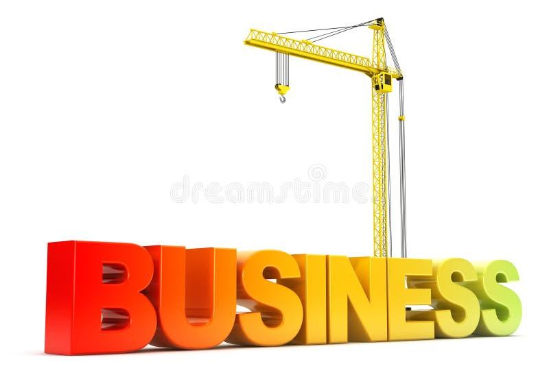 Signe d'affaires avec lever la grue photos libres de droits