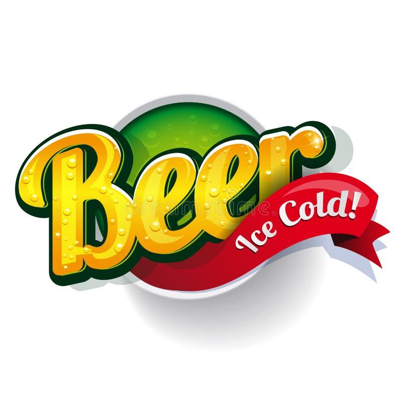 Signe d'affiche de bière de vintage illustration libre de droits