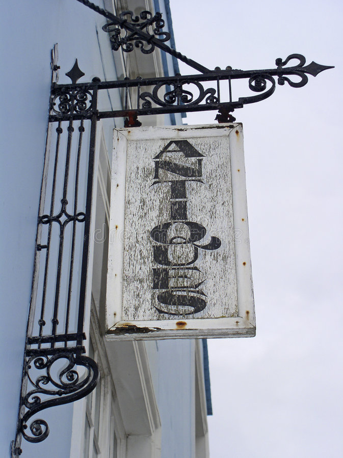 Signe d'antiquités photographie stock libre de droits