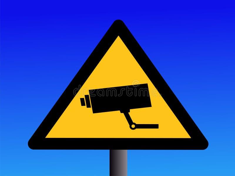 Signe d'appareil-photo de télévision en circuit fermé illustration stock