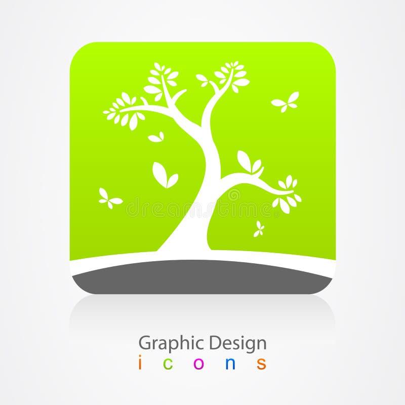 Signe d'arbre de logo d'affaires de conception graphique illustration de vecteur