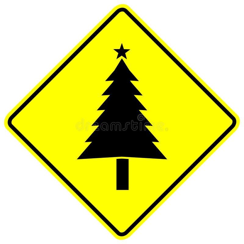 Signe d'arbre de Noël illustration libre de droits